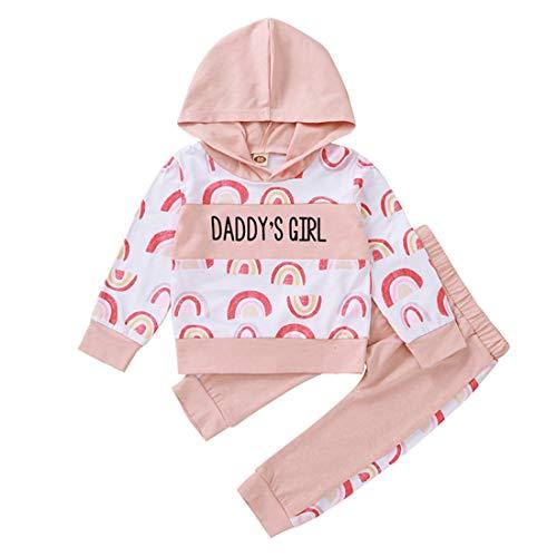 Kleinkind Baby Mädchen Winter Herbst Kleidung Regenbogen Hoodie Sweatshirt Langarm T-Shirt Tops Hosen Trainingsanzug Set