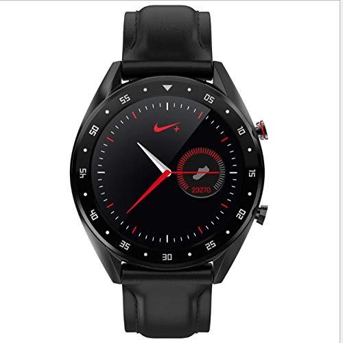 NIAY Smart Watch Sfigmomanometro EKG Bluetooth Chiamata Notifica Portalettere Sincronizzazione Display IP68 Impermeabile Nero