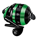 WataChamp Frog Spincast Fishing Reel, High Speed 4.3:1 Gear Ratio, Easy to Use Push Button Casting Design, Reversible Handle for Left/Right Retrieve, with Monofilament Line