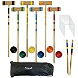Best Croquet Sets - Juegoal Upgrade Six Player Croquet Set for Kids Review