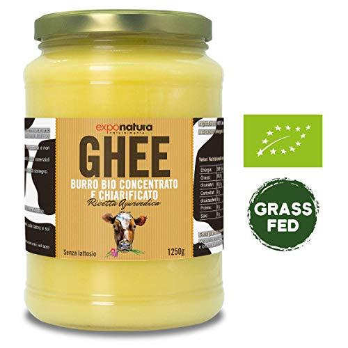 Ghee biologico 1250g - burro chiarificato secondo l'antica ricetta Ayurvedica - solo da latte di mucche al pascolo - senza lattosio estremamente diger