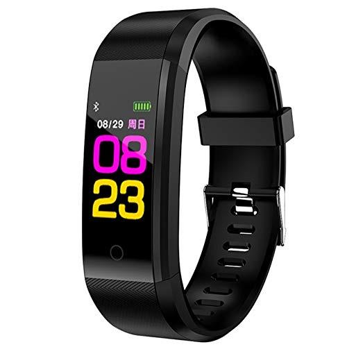 Luoshan ID115 Plus Pulsera Inteligente Fitness Monitor de Ritmo cardíaco Presión Arterial Podómetro Salud Running Sports SmartWatch for iOS Android (Negro) (Color : Black)