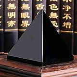guarigione energetica Nero Bgge 4 cm Idea Regalo da scrivania Piramide in Ossidiana Nera