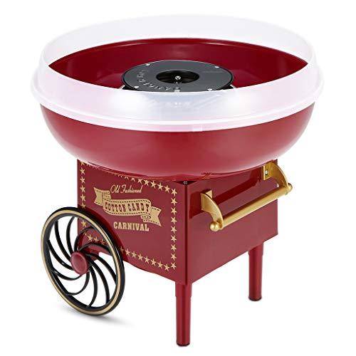 Zuckerwattemaschine für Zuhause Retro Cotton Candy Maker Süßigkeiten Elektrische Zuckerwatte Maschine Spritzschutz Zuckerwattegerät Kurze Aufheizzeit Leicht zu Reinigen Kindergeburtstag Party