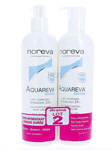 Noreva Aquareva 24H Moisturizing Body Cream 2 x 400ml by Noreva