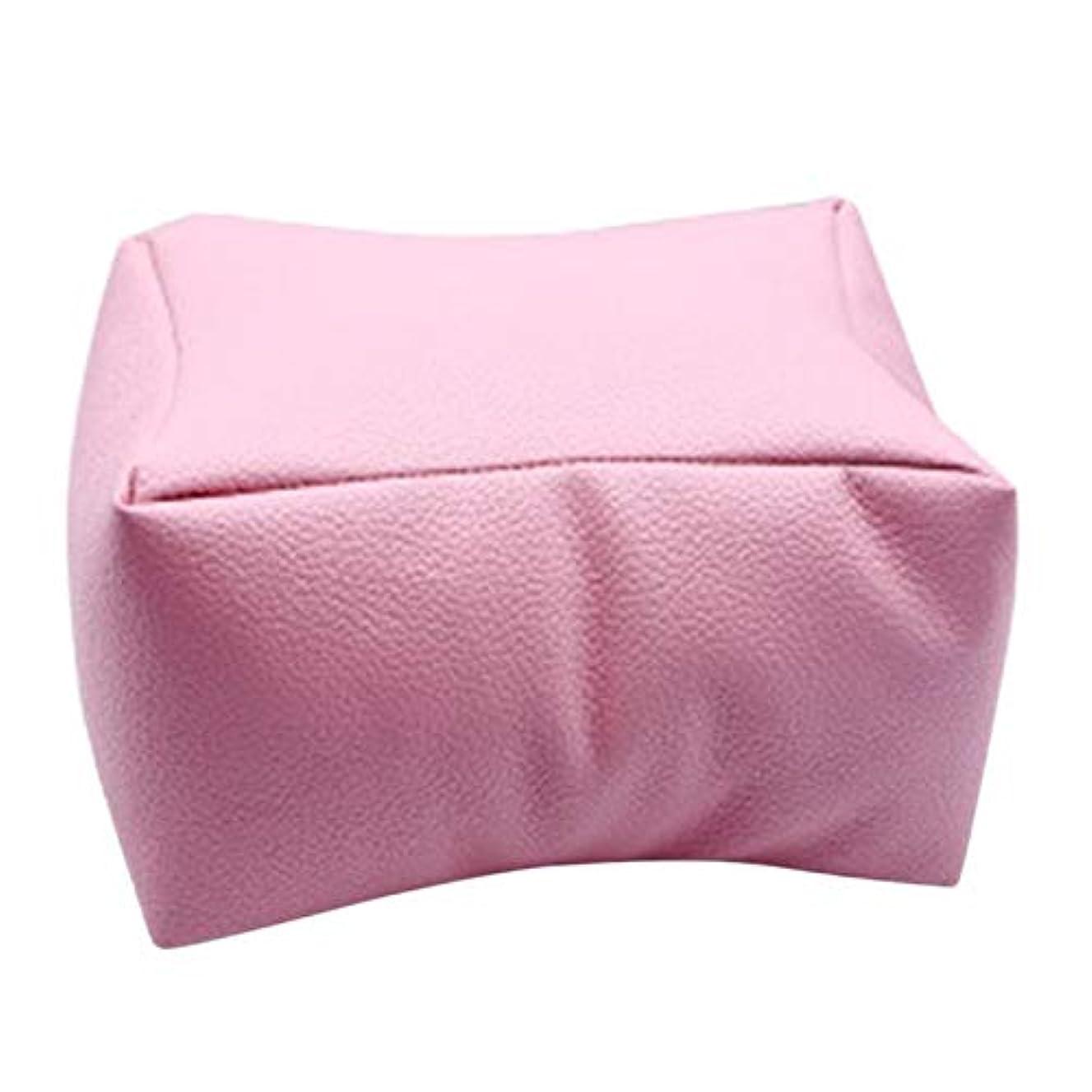 留まるジーンズ感じるTOOGOO 1個ネイルアート機器ハンドレストクッション枕ソフトpuレザーフットハンドホルダー二重使用マニキュアネイルアート機器ピンク