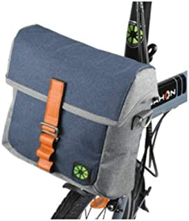 Dahon Front Bag (Blue/Gray) - Mounts to Front of Any Folding Bike