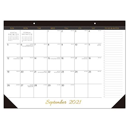Desk Calendar 2021 - 2022: Large Monthly Desk Pad Calendar for Planning & Organizing, 16 Months Desktop / Wall Calendar Runs from September 2021 to December 2022, Size 17' x 12'