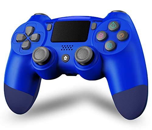 Maegoo Wireless Controller für P4, Bluetooth Controller P4 Gamepad Joystick für P4/Slim/Pro, P4 Game Controller mit Dual Vibration, 6-Achsen-Somatosensorik, Touch Panel, Audio