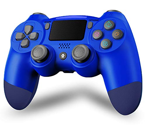 Maegoo PS4 Controller, Joystick PS4 Bluetooth Wireless Controller Gamepad per PS4/Slim/Pro, Controller PS4 Game con Vibrazione Dual Shock, Somatosensoriale a 6 Assi, Touch Panel, Audio