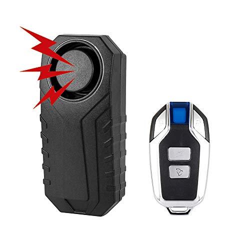 Fiets alarm, Draadloze Vibratie Anti-Diefstal Alarm met Remote, Waterdichte Beveiliging Alarmen Intelligente Controle Alarm, voor Fiets Motorfiets Auto Mobiliteit Scooter Voertuigen Deur Venster, 113dB Super Loud