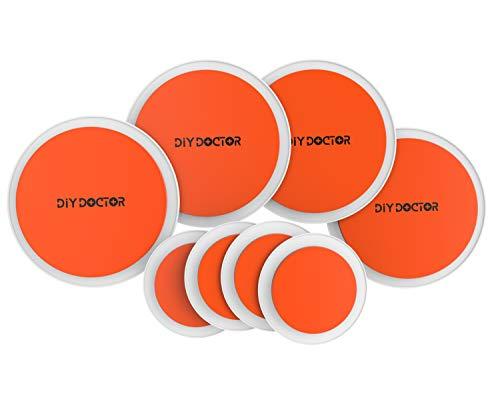 DIY Doctor – Discos para desplazar muebles pesados, color naranja Estupendo juego de 8 alfombrillas.