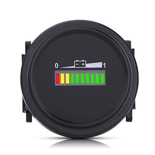 Medidor de batería, indicador de estado de la batería Medidor de batería, monitor de visualización de batería para carrito de golf para equipos con batería de CC