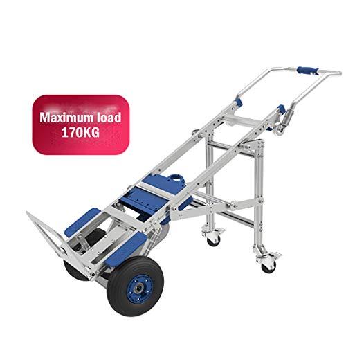 XH-Tool Aluminium Hand Truck Elektro Treppensteiger Hand Trucks Klappbar, 400 W Brushless Motor - 48 V Batterie - Schutzhülle - 170 kg Lager / 2 Räder