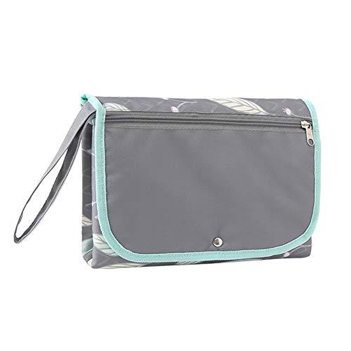 iFCOW Cambiador de pañales para bebé, impermeable, portátil, con bolsillos de malla