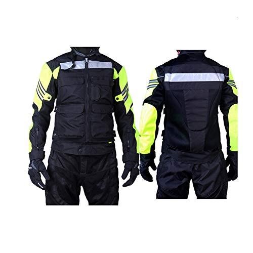 YXYECEIPENO Motorrad-Reitweste, Schutzausrüstung, Motorradweste, 600D Oxford-Tuchmaterial ist atmungsaktiv und reißfest, es ist nicht leicht zu verformen und hat einen reflektierenden Warnungseffekt.