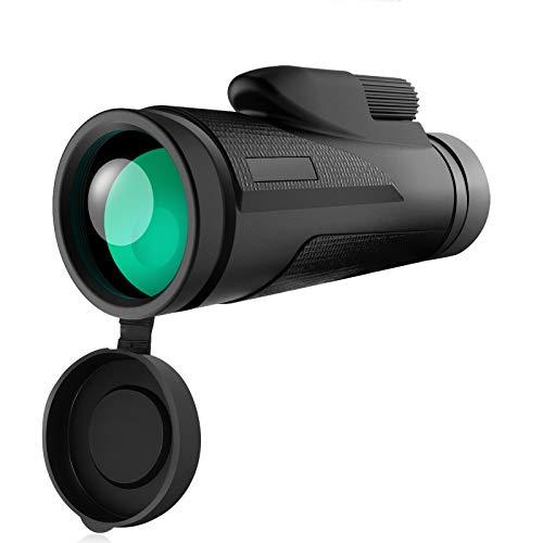 Telescopio Monocular Tencoz 12 x 50 HD Telescopio Monocular Impermeable Telescopio Monocular para Movil con trípode y Adaptador para Smartphone Monoculares para Observación de Las Aves Caza Camping