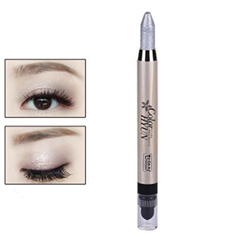 Frcolor Augenbraue Glitzer Schatten Bleistift Eye Liner Bleistift Stift große Smokey Cream Eyeliner Silber