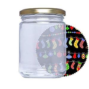 Tarros de cristal con tapas para conservas Pack de 46 unidades. Frascos hermeticos de 445 ml con tapa de rosca cerrado hermético para todo tipo de conserva casera