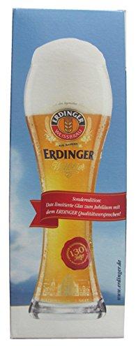 Erdinger Weissbier - 130 Jahre Jubiläumsglas - Weißbierglas 0,5 l.