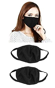 Shakuntla Anti Pollution Air Filter Mask Washable Dust For Pollution Smoke Allergy - Black (Pack of 3)