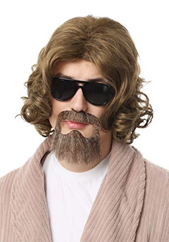 Big Lebowski Adult The Dude Wig and Beard Kit Standard