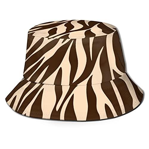 N \ A Zebra Negro Bucket Hat Al Aire Libre Plegable Sombrero De Pescador Moda Pescador Playa Sombrero De Sol Femenino Adolescente
