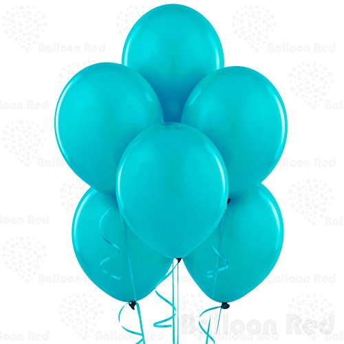 Teal 10 Inch Latex Balloons 24 Pack Thickened Extra Strong for Baby Shower Garland Wedding Photo Booth Birthday Party Supplies Arch Decoration Engagement Anniversary Christmas Festival