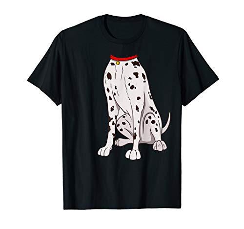 Dalmatiner Kostüm T-Shirt für Halloween Hund Tier Cosplay