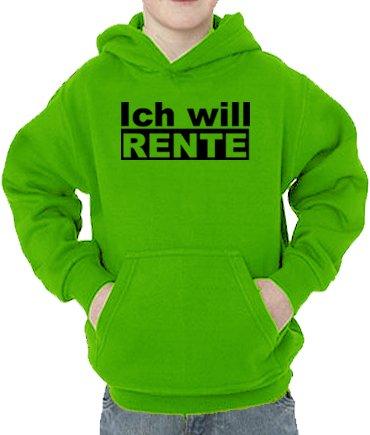 Touchlines - Sweatshirt Ich Will Rente - Sweat-Shirt Mixte bébé, Vert (Real Green), 5 Ans (110 cm)