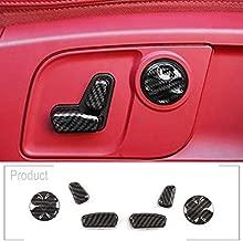 TongSheng ABS Inner Car Seat Adjustment Button Cover Trim 6pcs for Maserati Levante 2016-2020 Ghibli 2014-2020 Quattroporte 2013-2020 for Alfa Romeo Giulia Stelvio 2017-2020 (Carbon Fiber)