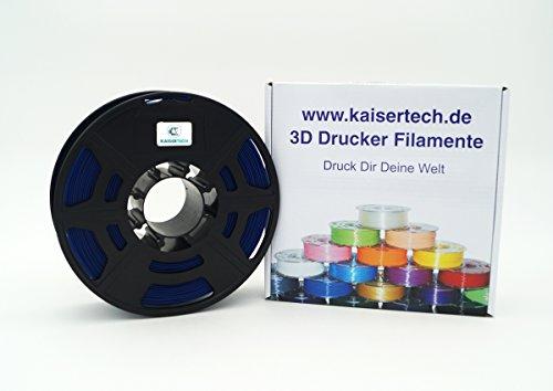 Kaisertech - Filamento para impresora 3D, 1 kg, PLA / ABS 1,75 mm / 3 mm, alta calidad y varios colores disponibles, PLA 1.75mm, azul marino, 1