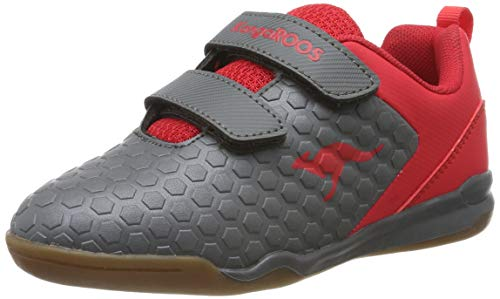 KangaROOS Unisex-Kinder Speed Court V Multisport Indoor Schuhe, Rot (Steel Grey/Red 2015), 35 EU