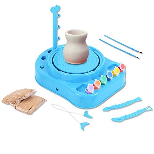 Backbayia Kinder Töpferstudio Töpferset Elektrische Töpferscheibe DIY Kunsthandwerk Spielzeug Set