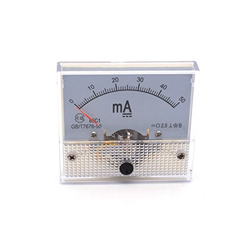 Antrader Ampere Panel Meter Class 2.5 Accuracy DC 0-50mA Analog Ammeter Gauge 85C1