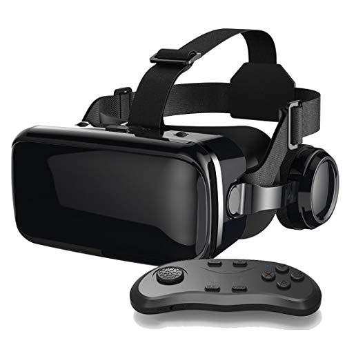 YHNBG Gafas VR, Gafas de Realidad Virtual, VR Glasses Visión Panorámico 360 Grado Película 3D Juego Immersivo para Móviles 4.0-6.0 Pulgada para iPh X/7/6s 6/Plus, Galaxy s8/ s7, etc. K003LJ