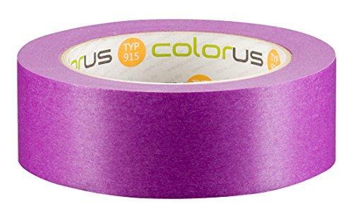 Colorus Premium Tapetenband 38 mm x 50 m | Fineline Klebeband für glatte und leicht raue sensible Untergründe | Malerband für scharfe Farbkanten | Abklebeband für Maler, extrem dünn, anschmiegsam