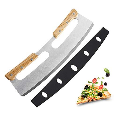 Olymajy cortador pizza, pizza slicer, Cuchillo afilado de acero inoxidable con mango...