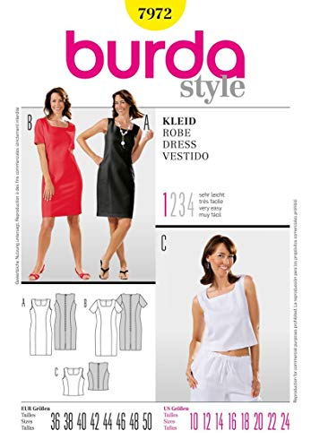 Burda Schnittmuster 7972 Kleid Gr. 38-50 (Sizes 12-24)