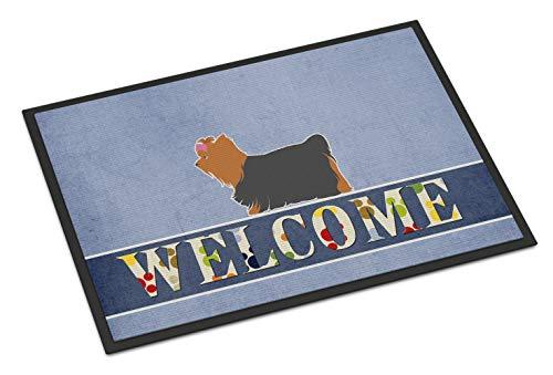 Caroline Tesoros del bb5538mat Yorkshire Terrier Yorkie Felpudo de Bienvenida, 18x 27, Multicolor