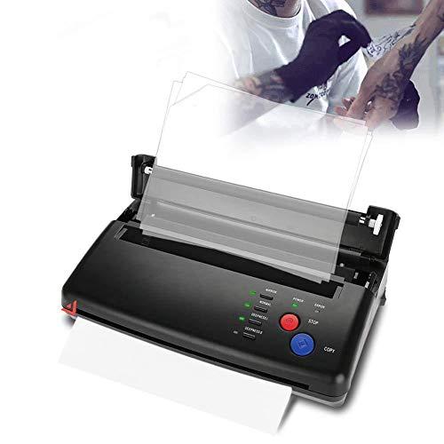 Impresora de transferencia del tatuaje, Herramienta de tatuaje profesional Diseño de dibujo Tattoo Máquina de Tatuaje, copiadora de plantillas térmicas, Máquina de Tatuaje para papel A4 A5 (EU)