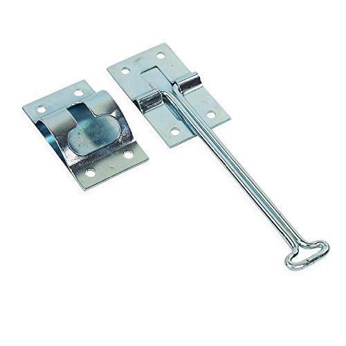 Cierre de puerta de entrada de metal de 10,16 cm para remolque de caravana exterior y remolque, acero chapado en zinc