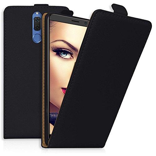mtb more energy® Flip-Hülle für Huawei Mate 10 Lite (5.9'') - schwarz - Kunstleder - Schutz-Tasche Cover Hülle