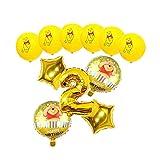 Foil balloon 11pcs/set Cartoon Winnie the Pooh Aluminum Balloons Set Birthday Party Wedding Decoration Kid Toys balloon (Color : Yellow-2)