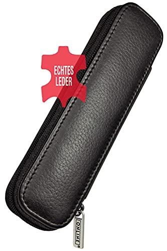 Online 90686 Leather Case for 2 Long Pen - Black