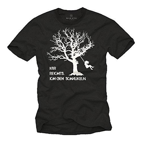 Lustiges Fun T-Shirt mit Spruch Mir REICHTS ICH GEH SCHAUKELN schwarz Herren Größe XXXXL