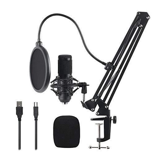 Fransande - Juego de micrófono con condensador de grabación de estudio para el canto en línea de difusión en red