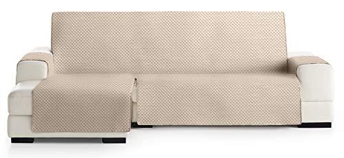 JM Textil Cubre Chaise Longue Acolchado Elena, Brazo Izquierdo, Tamaño 240cm, Color Beige 01