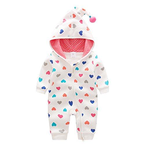 Bebone Baby Strampler Jungen Mädchen Overall Babykleidung (Weiß, 3-6Monate/59cm)