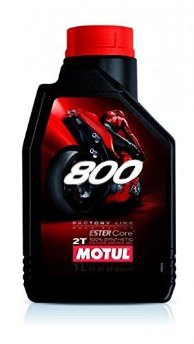 MOTUL9-FLACON 1 LITRE MOTUL HUILE 800 FACTORY ROAD RACING 2T LINE 2 TEMPS 100 % SYNTHÈSE